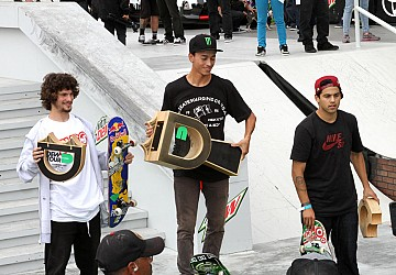 Nyjah, Sheckler take the win at SF Dew Tour!