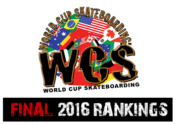World Cup Skateboarding Rankings 2016
